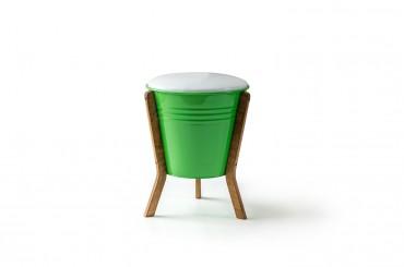 Kova Puf Sandıklı Yeşil